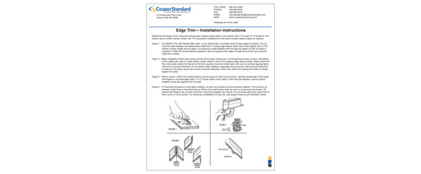 Edge Trim Instructions